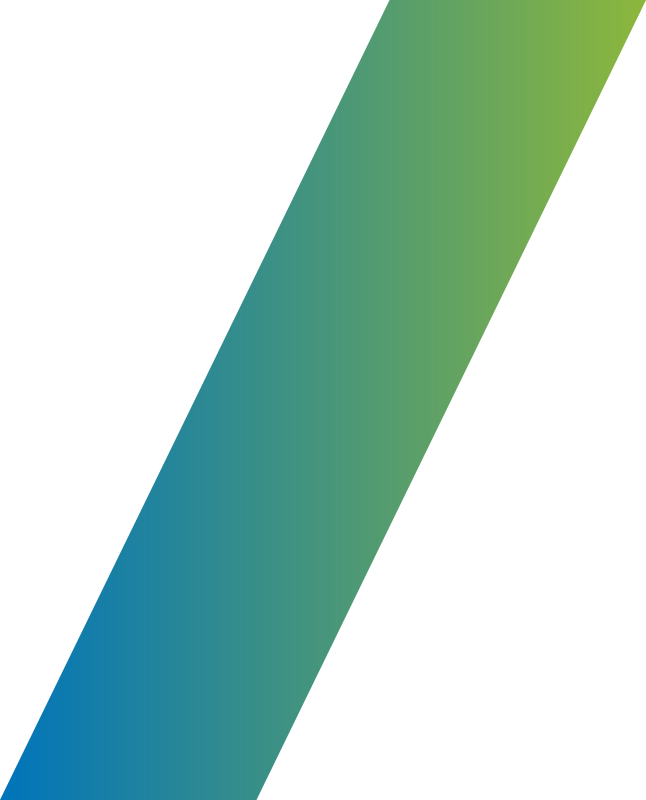 diagonal bar green and blue gradient